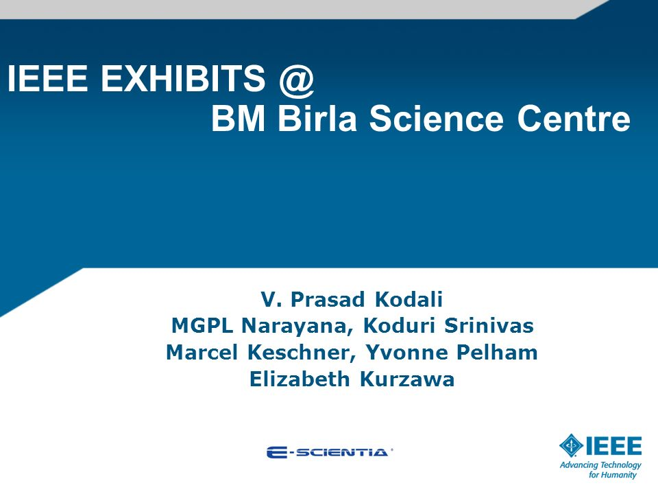 IEEE BM Birla Science Centre V.
