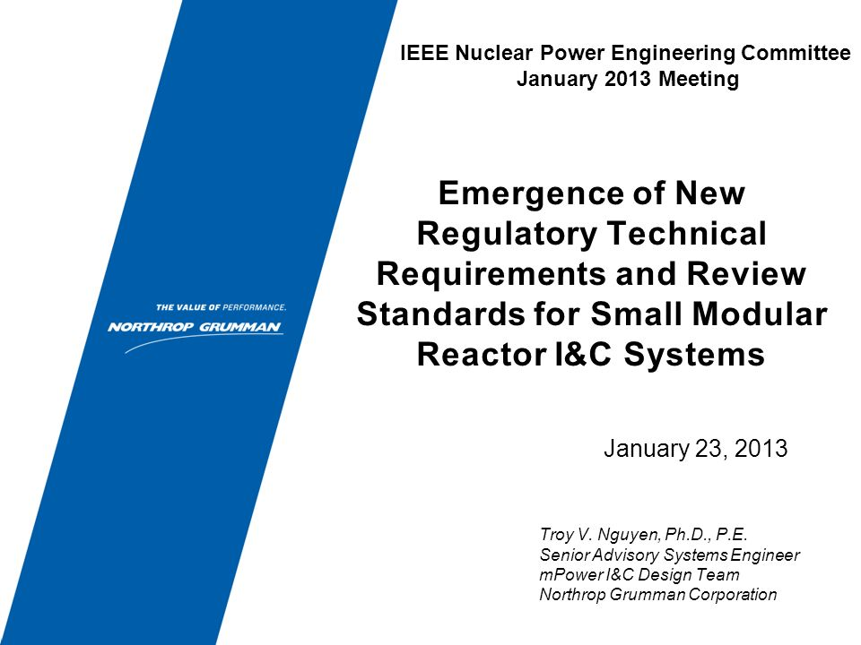 Summary Background Small Modular Reactor (SMR) Design Potential Policy, Licensing, & Technical Issues Key I&C Technical Issues Emergence of New Technical Requirements and Review Standards Conclusion Q&A 2