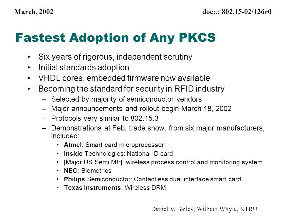 March, 2002 doc:.: 802.15-02/136r0 Daniel V.