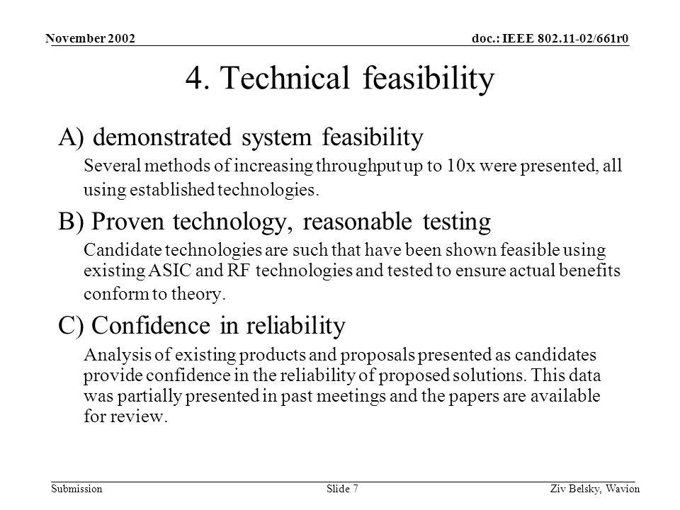 doc.: IEEE 802.11-02/661r0 Submission November 2002 Ziv Belsky, WavionSlide 7 4.