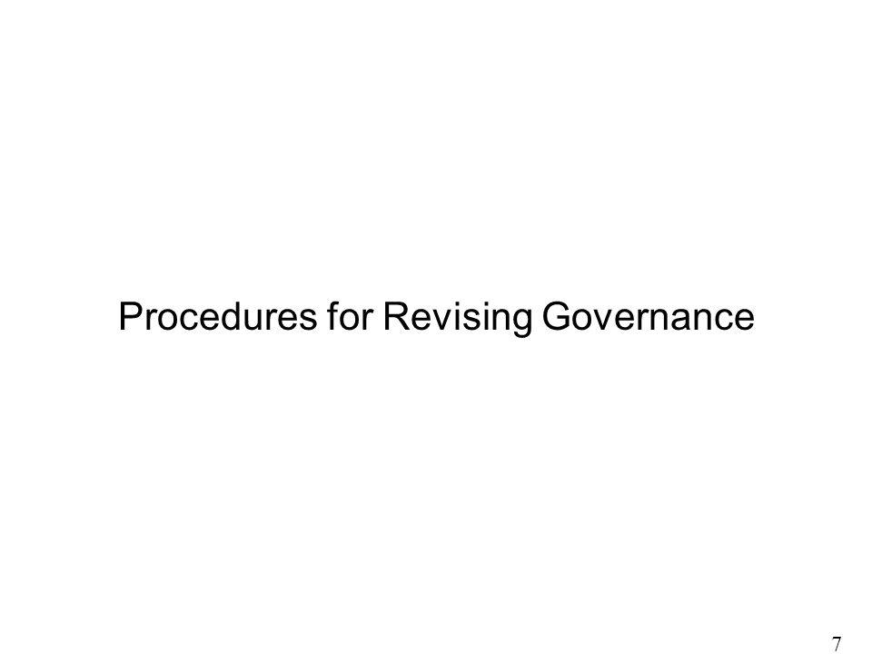 Procedures for Revising Governance 7