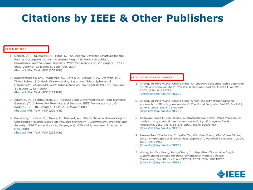 Citations by IEEE & Other Publishers