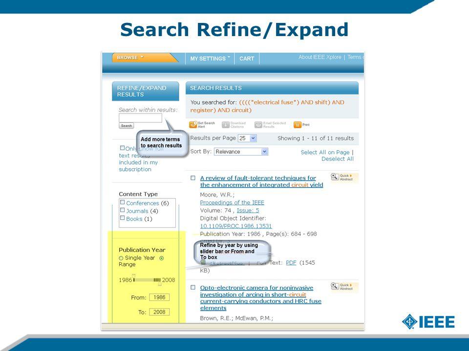 Search Refine/Expand