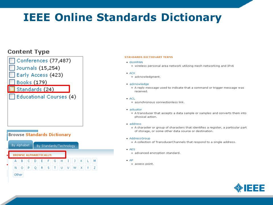 IEEE Online Standards Dictionary