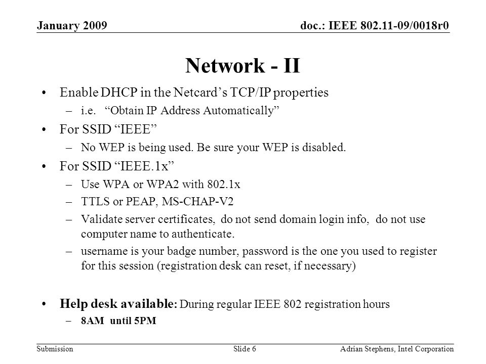 doc.: IEEE 802.11-09/0018r0 Submission January 2009 Adrian Stephens, Intel CorporationSlide 37 Login to IMAT