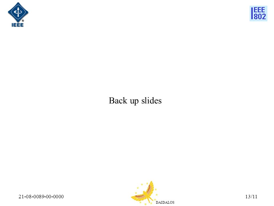 DAIDALOS 21-08-0089-00-000013/11 Back up slides