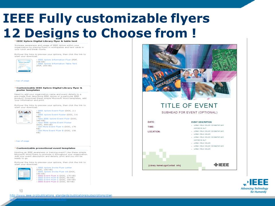 IEEE Fully customizable flyers 12 Designs to Choose from .
