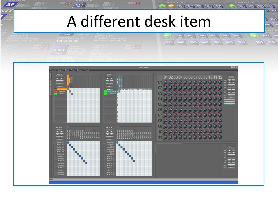 A different desk item