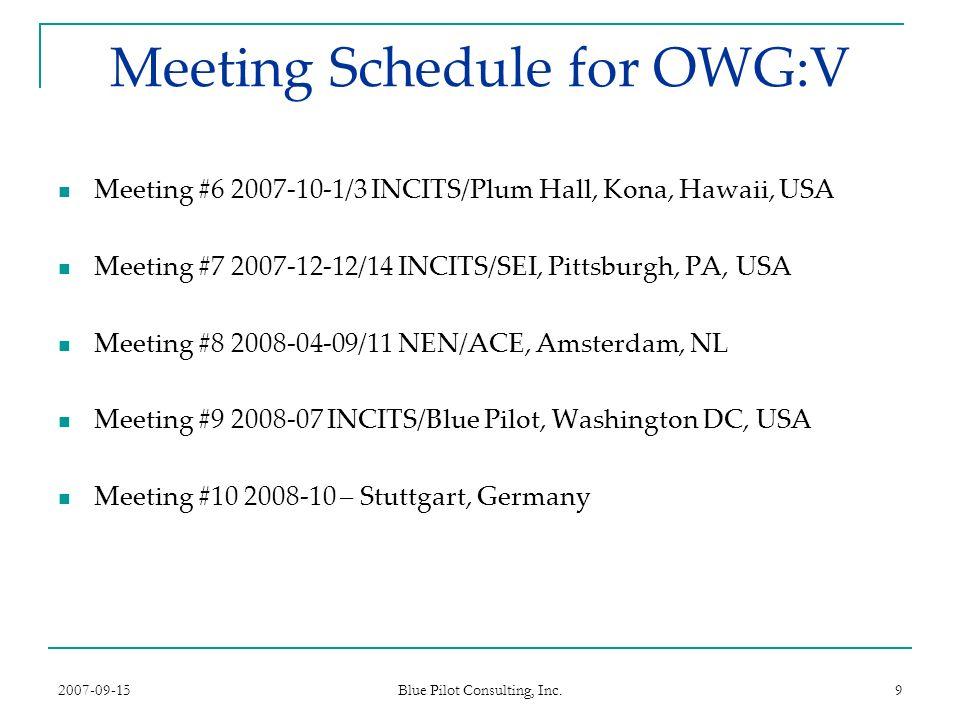 2007-09-15 Blue Pilot Consulting, Inc.