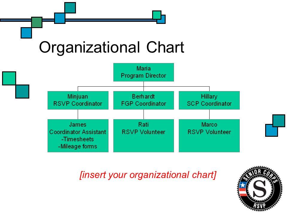 Organizational Chart [insert your organizational chart]