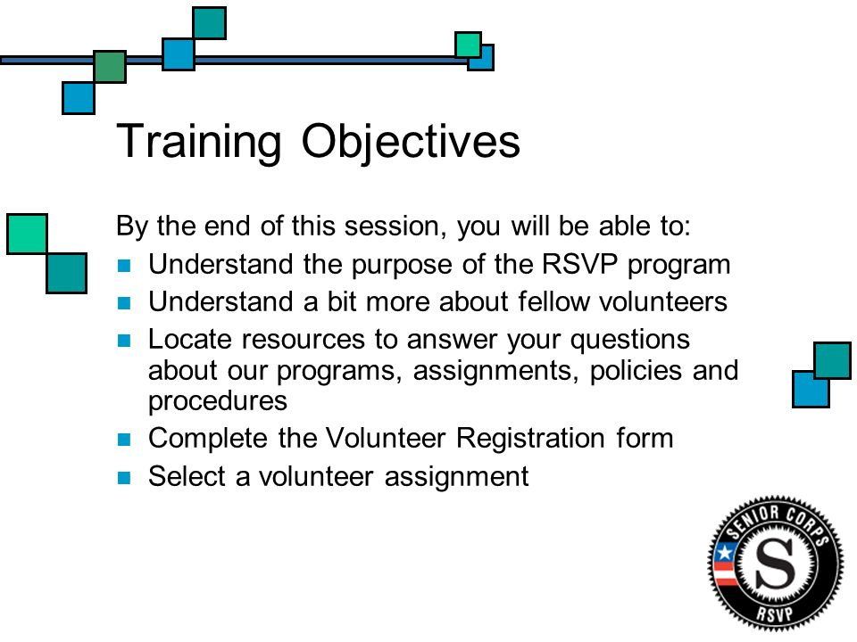 Volunteer Rights & Responsibilities Rights Receive a job description Receive adequate training Receive appropriate guidance/feedback Receive recognition for services provided Responsibilities Adhere to policies and procedures Attend training(s) Report any problems encountered Maintain confidentiality