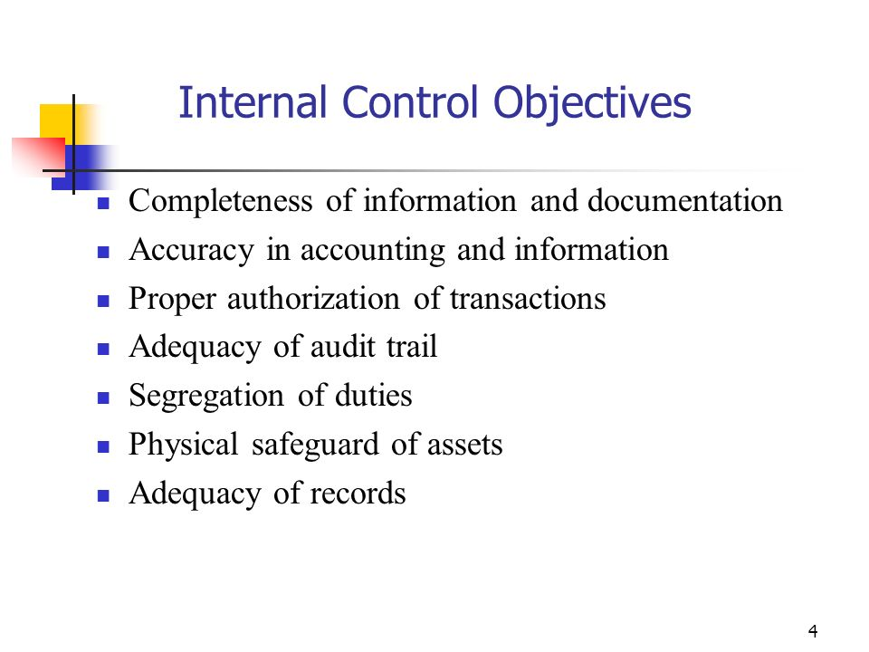 24 Segregation of Duties An essential element of Internal Controls Purpose is to : Provide checks and balances Ensure integrity of financial information Help prevent loss and theft