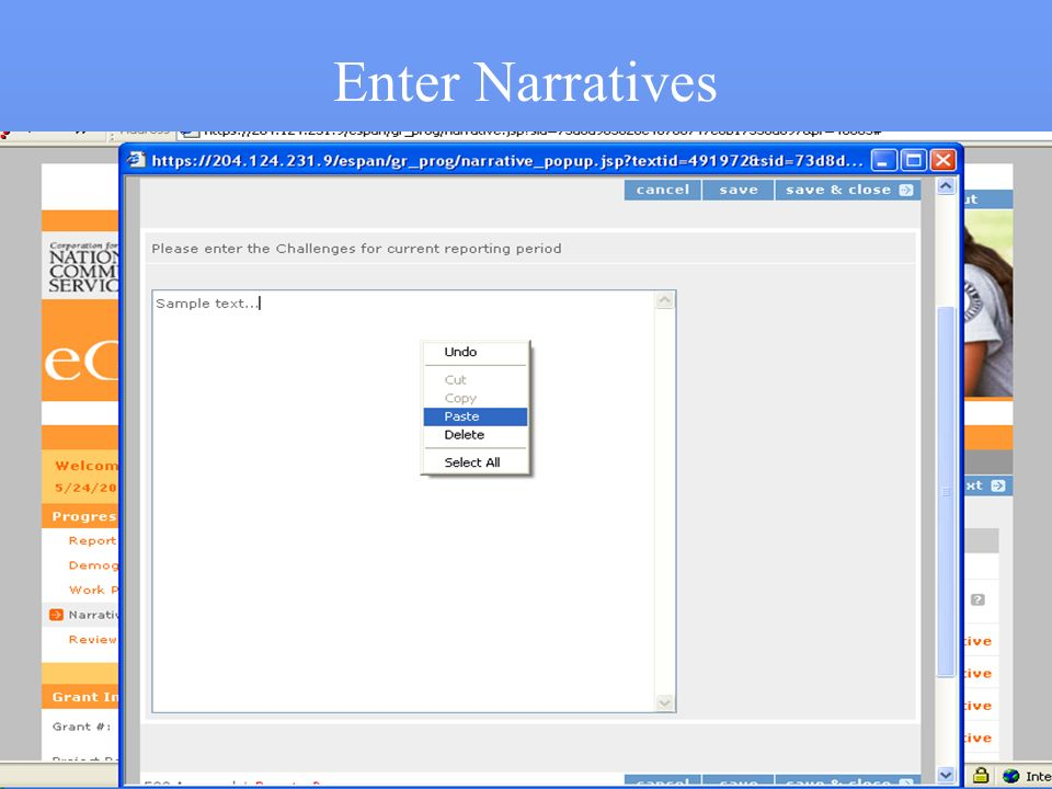 Enter Narratives