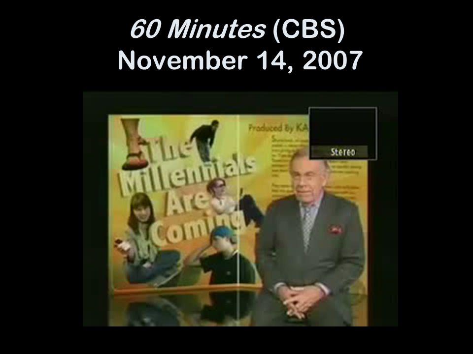 60 Minutes (CBS) November 14, 2007