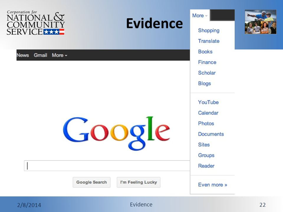 Evidence 2/8/2014 Evidence 22 Google Tip - Did You Know?