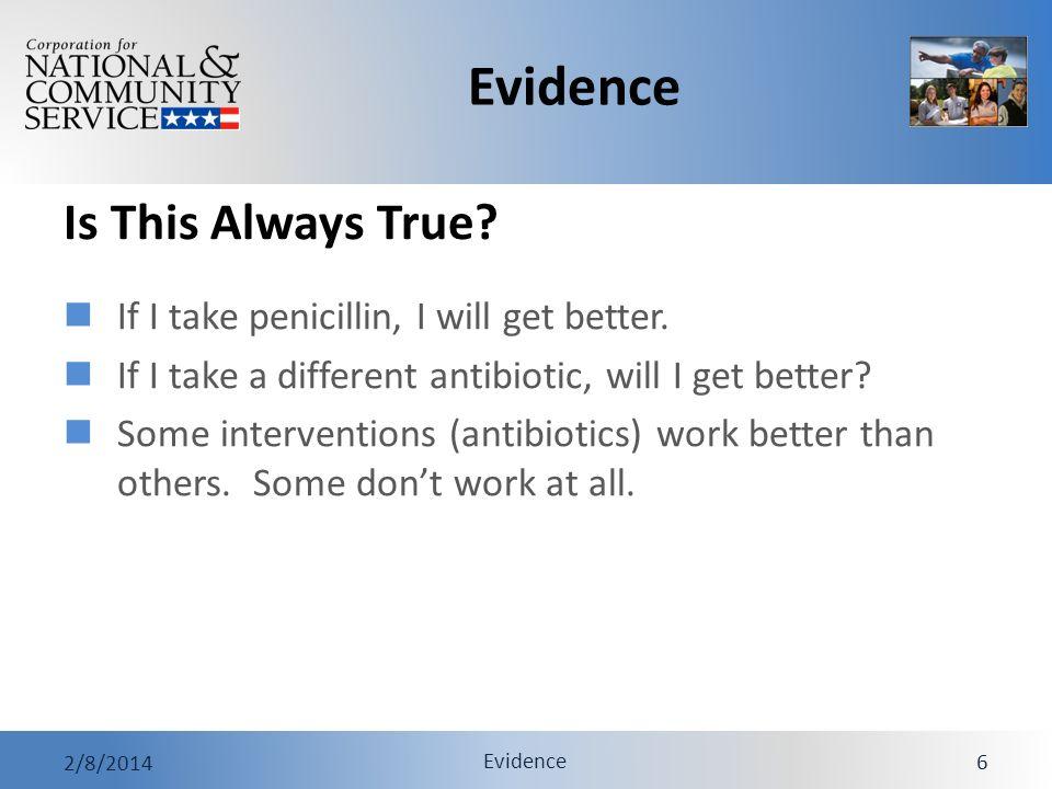 Evidence 2/8/2014 Evidence 27