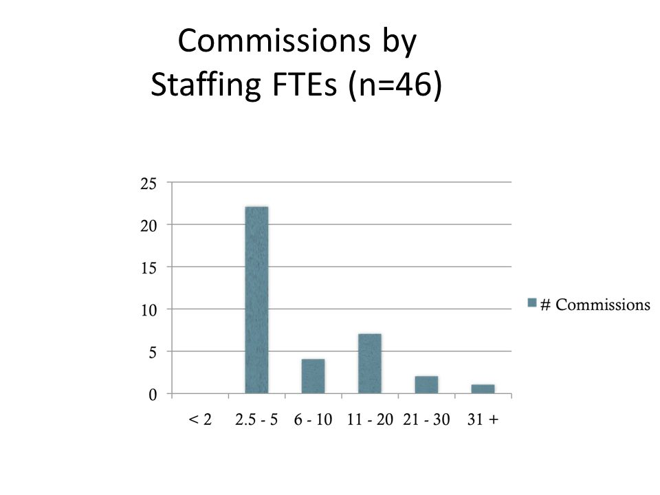 Commissions by Staffing FTEs (n=46)