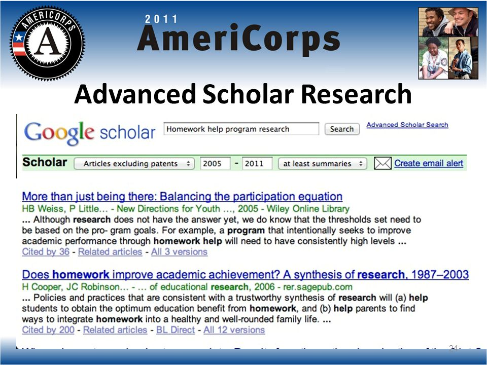 Advanced Scholar Research 24