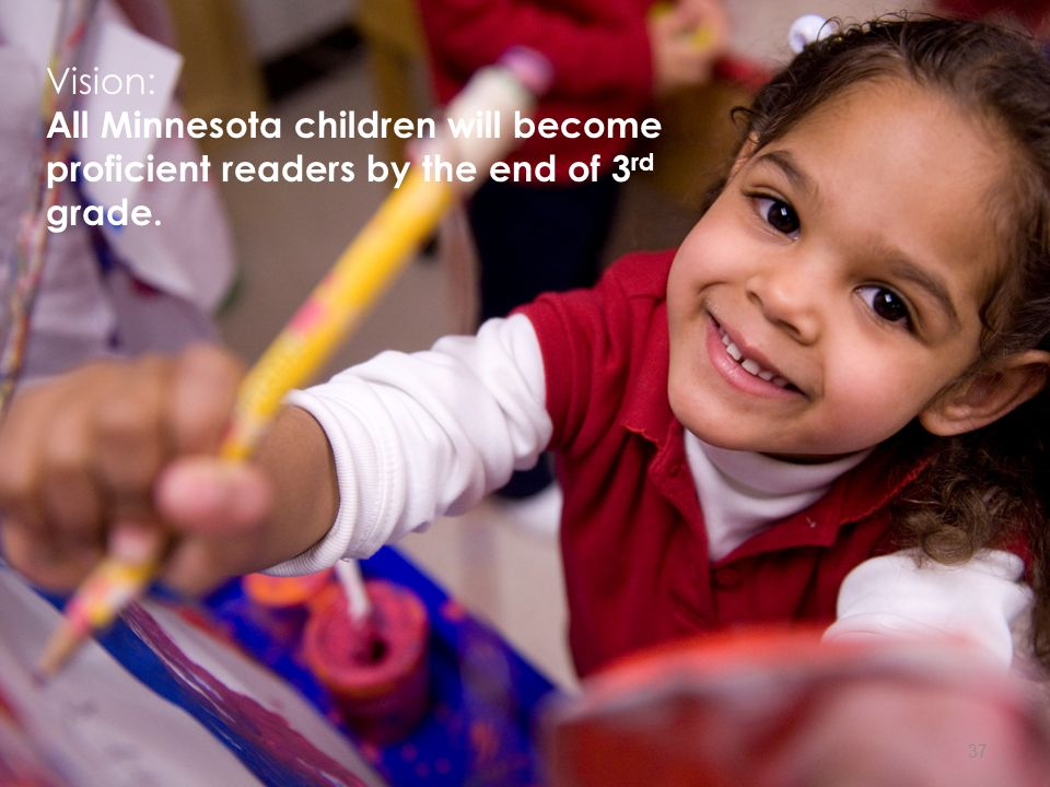 Vision: All Minnesota children will become proficient readers by the end of 3 rd grade. 37