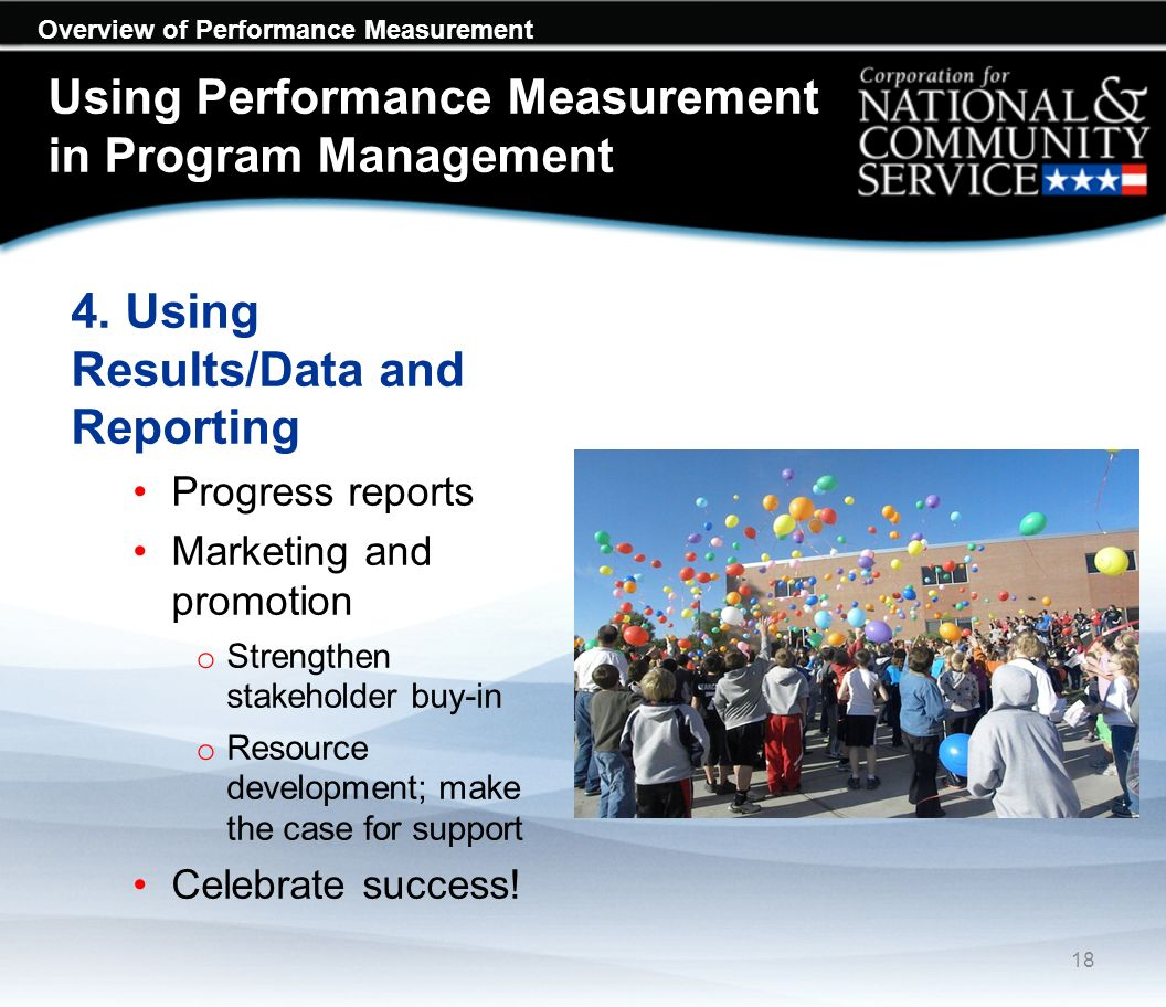 Overview of Performance Measurement Using Performance Measurement in Program Management 4.