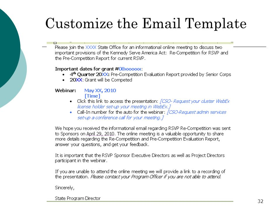 32 Customize the Email Template