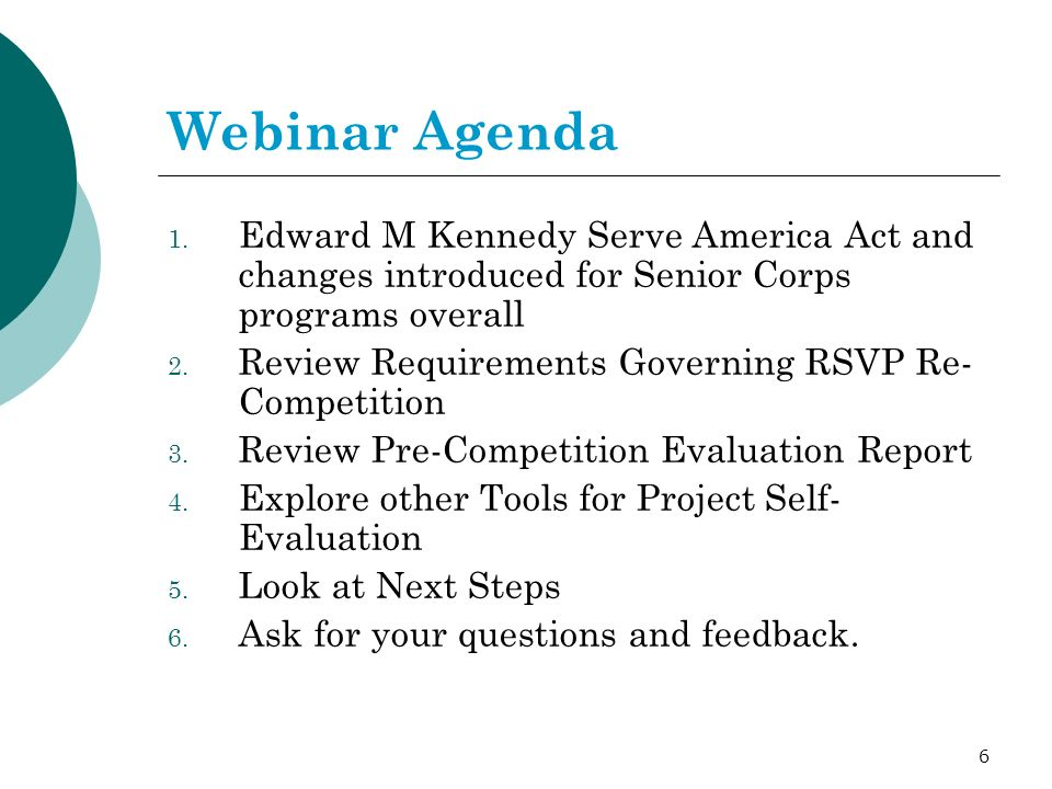37 RSVP Re-Competition Staff Webinar Questions Feedback