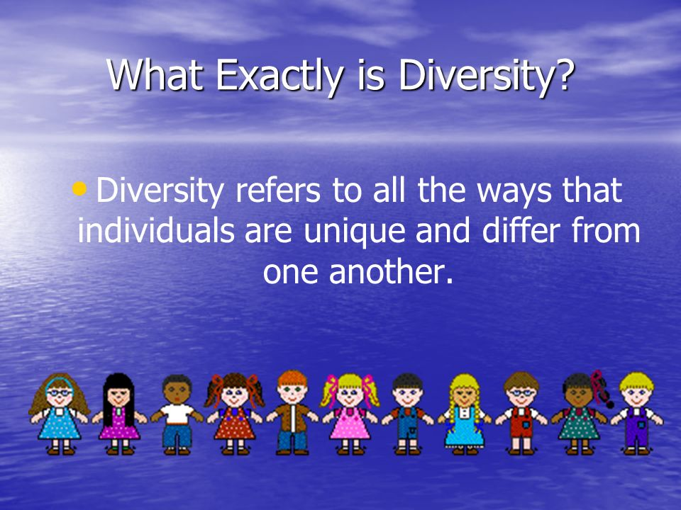 What Exactly is Diversity.