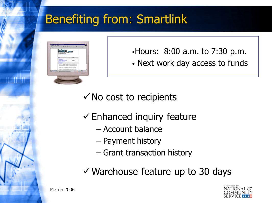 March 2006 Utilizing Payment Management System