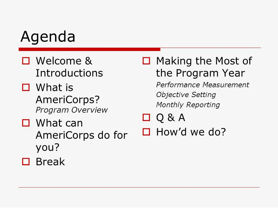 What is AmeriCorps.
