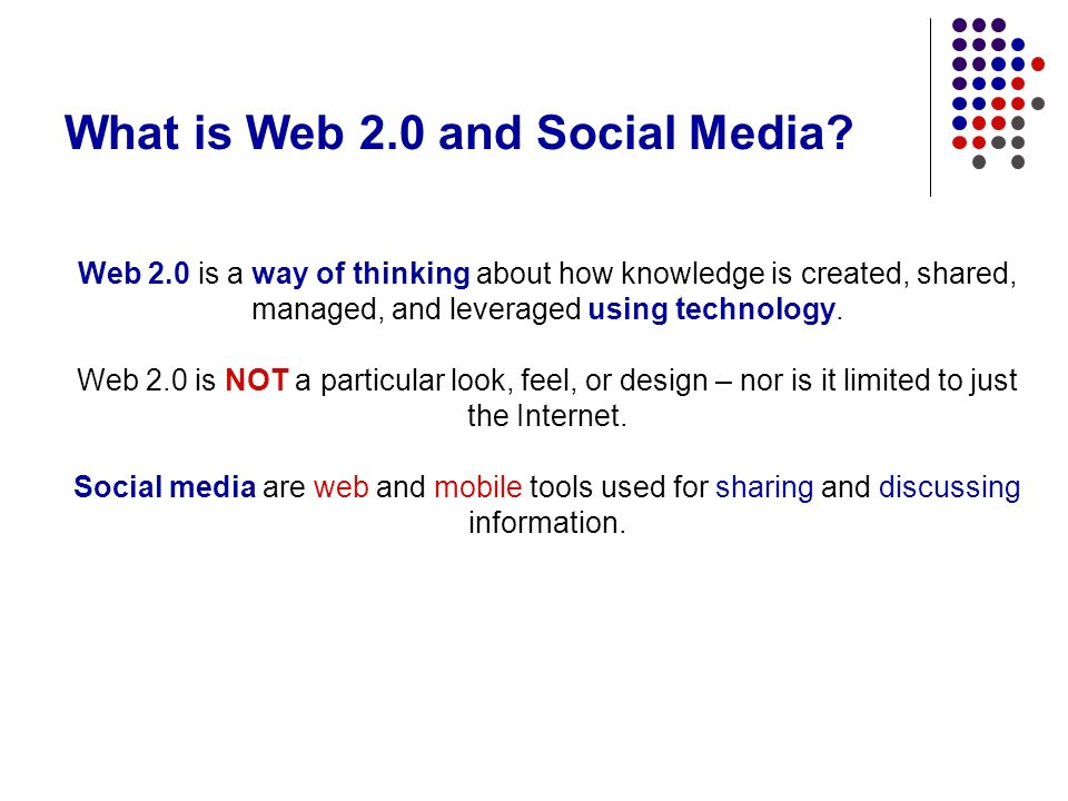 What is Web 2.0 and Social Media.