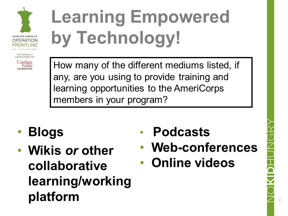 Learning Empowered by Technology.