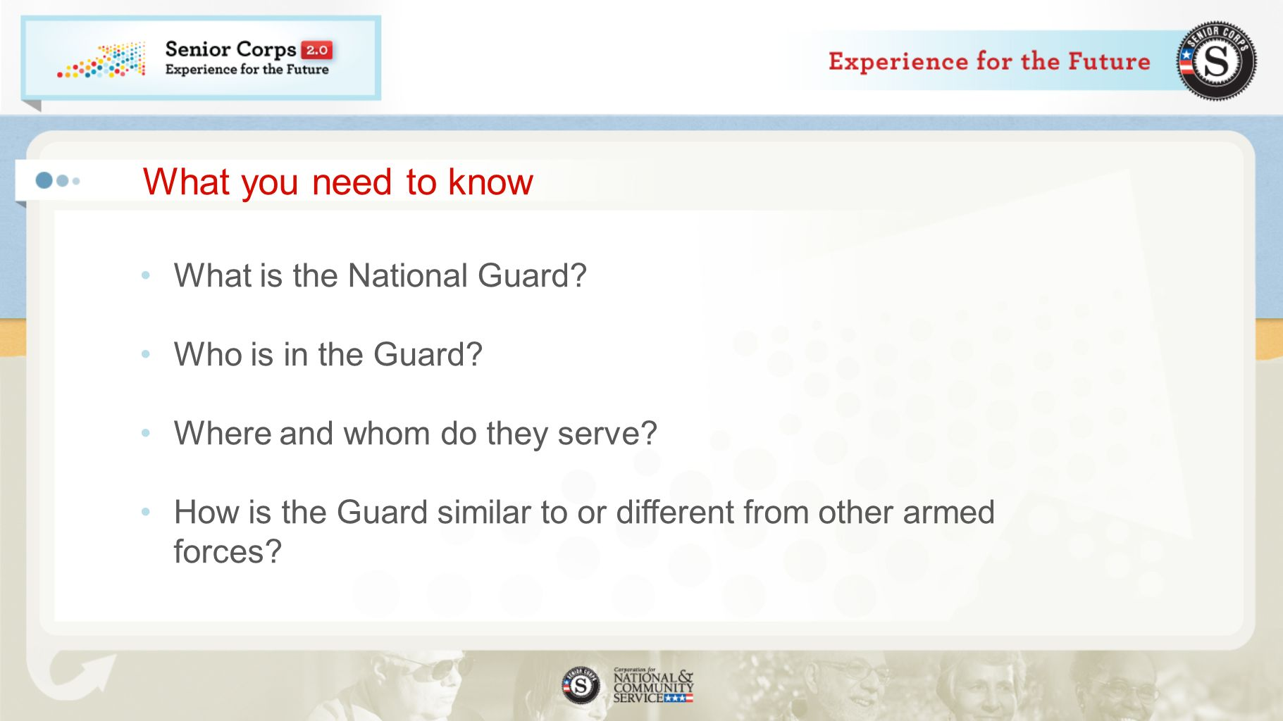 What you need to know What is the National Guard. Who is in the Guard.