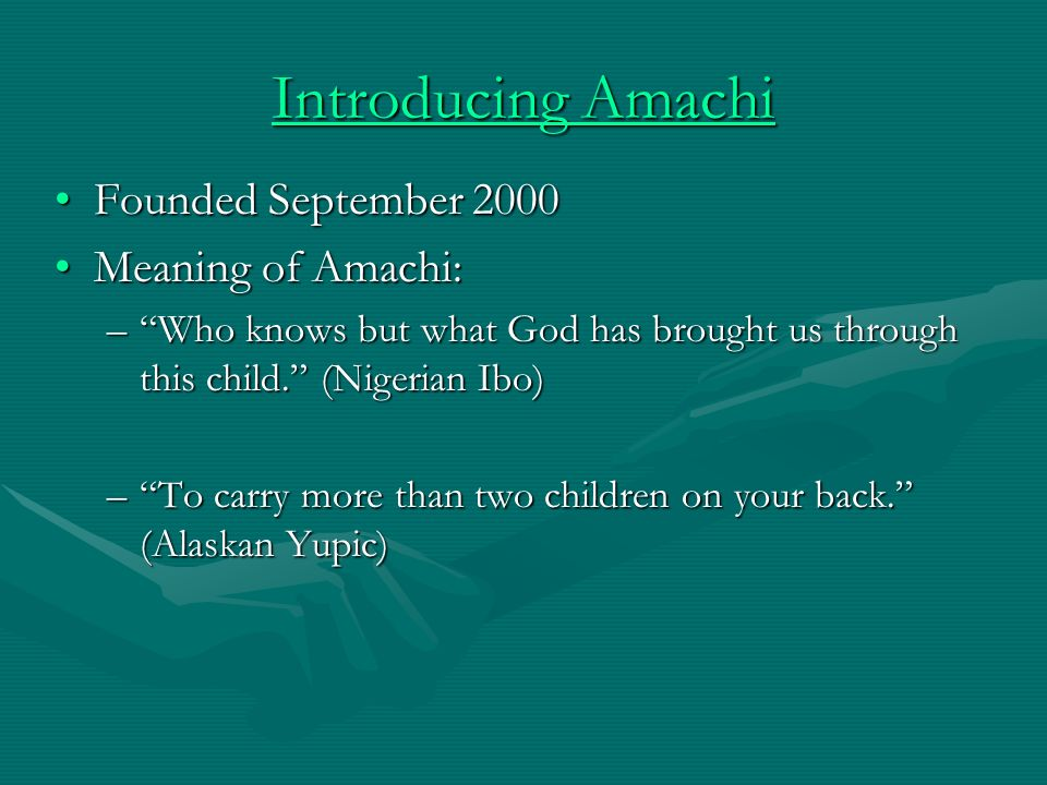 The Amachi Model Is faith based and rooted in a partnership between a reputable, well-established, secular non-profit agency or faith based non-profit and local faith organizationsIs faith based and rooted in a partnership between a reputable, well-established, secular non-profit agency or faith based non-profit and local faith organizations Is based on the Big Brothers Big Sisters model of one- on-one community-based mentoringIs based on the Big Brothers Big Sisters model of one- on-one community-based mentoring Is performance based and has a strong monitoring component to ensure quality controlIs performance based and has a strong monitoring component to ensure quality control Is research-basedIs research-based