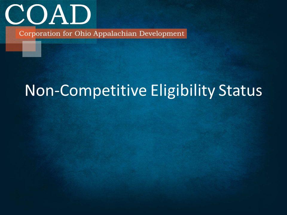 Non-Competitive Eligibility Status