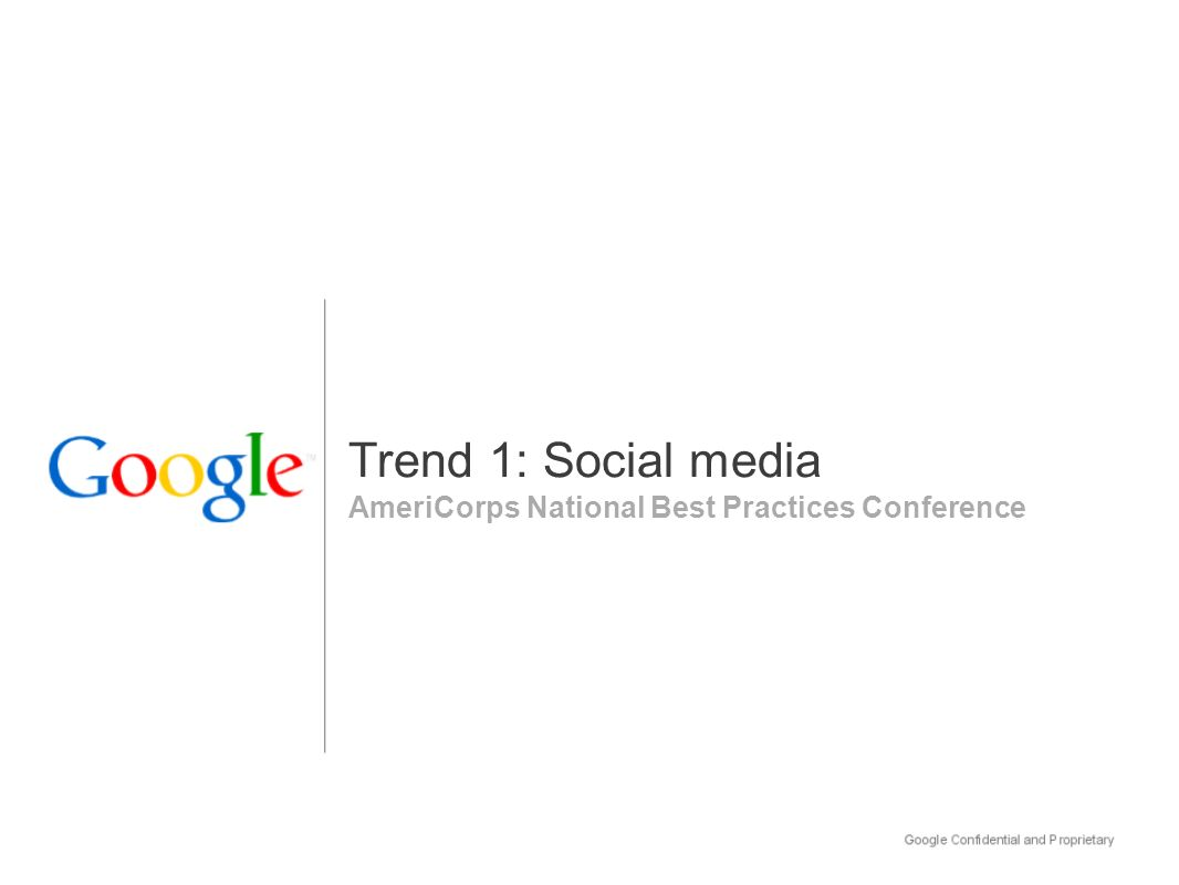 AmeriCorps National Best Practices Conference Trend 1: Social media