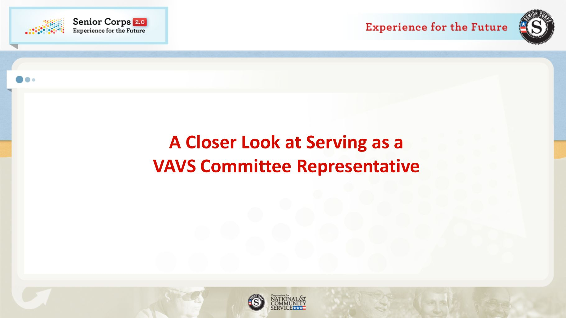 A Closer Look at Serving as a VAVS Committee Representative