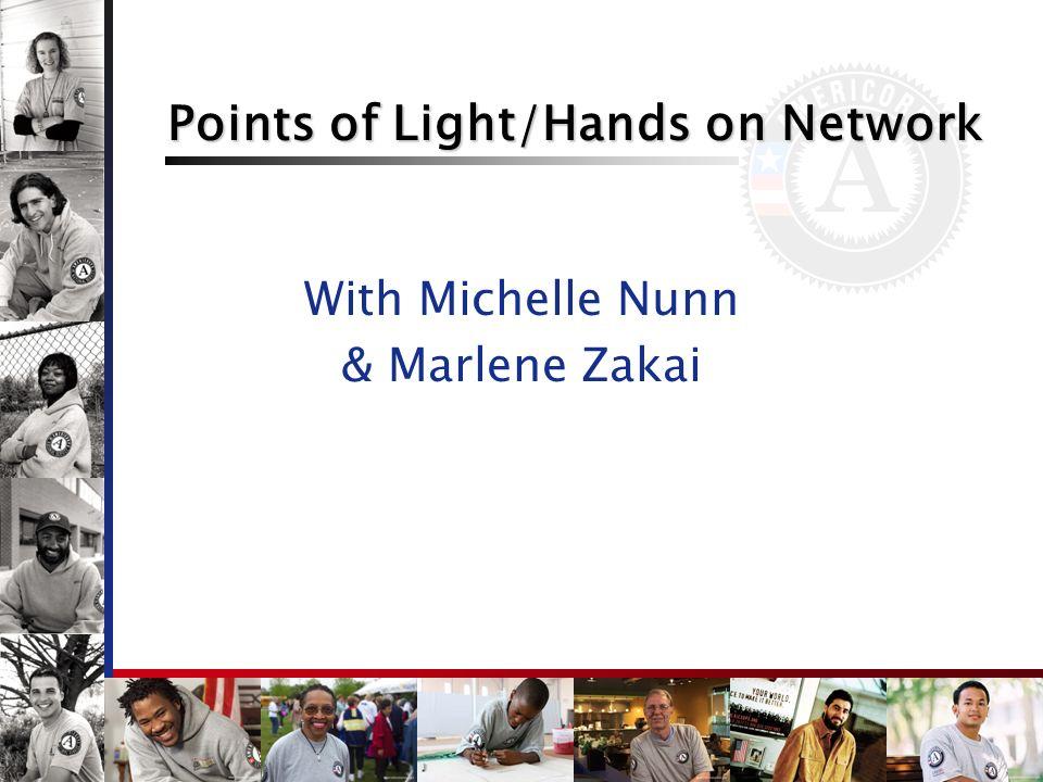 Points of Light/Hands on Network With Michelle Nunn & Marlene Zakai