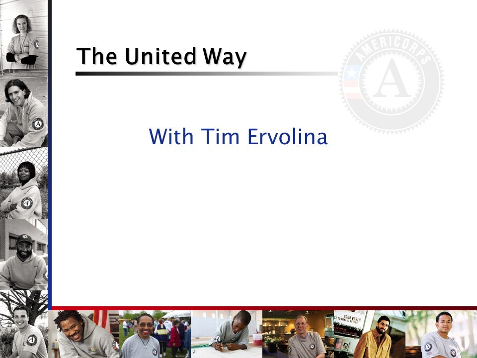 United Way as a National Service Partner