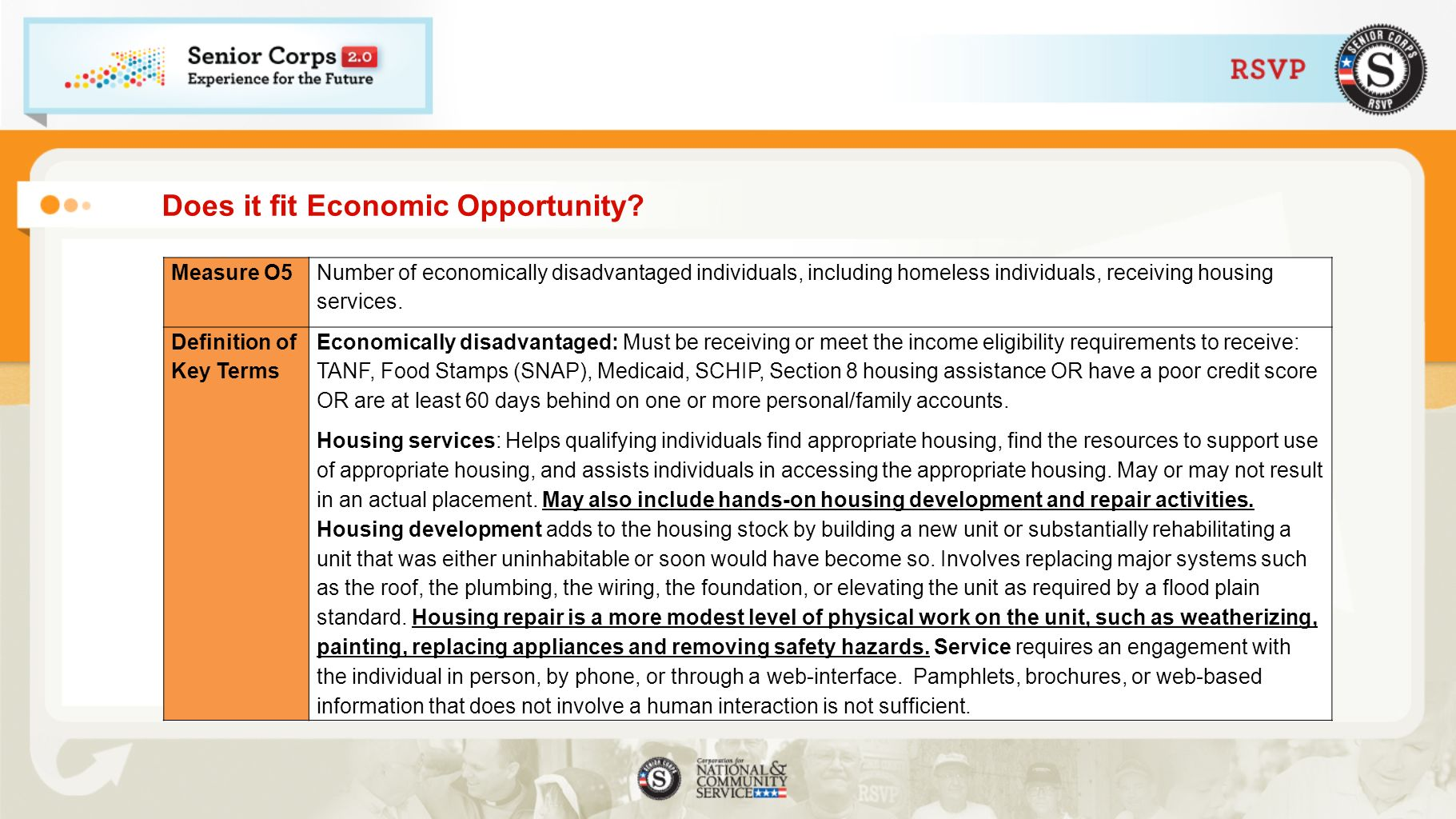 Does it fit Economic Opportunity.
