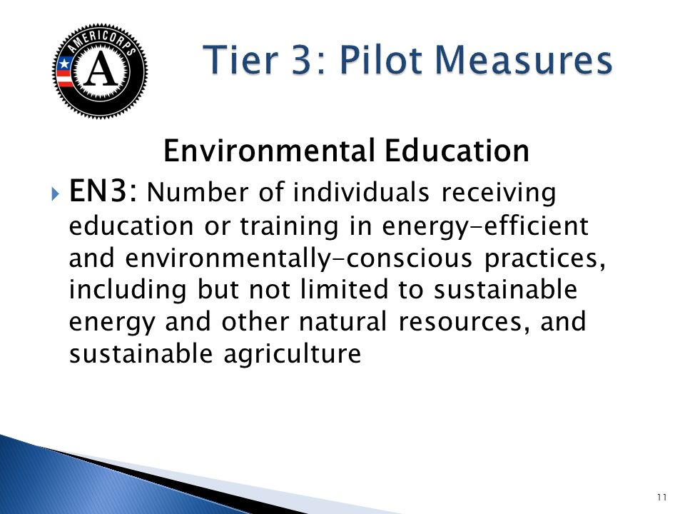 Environmental Education EN3: Number of individuals receiving education or training in energy-efficient and environmentally-conscious practices, includ