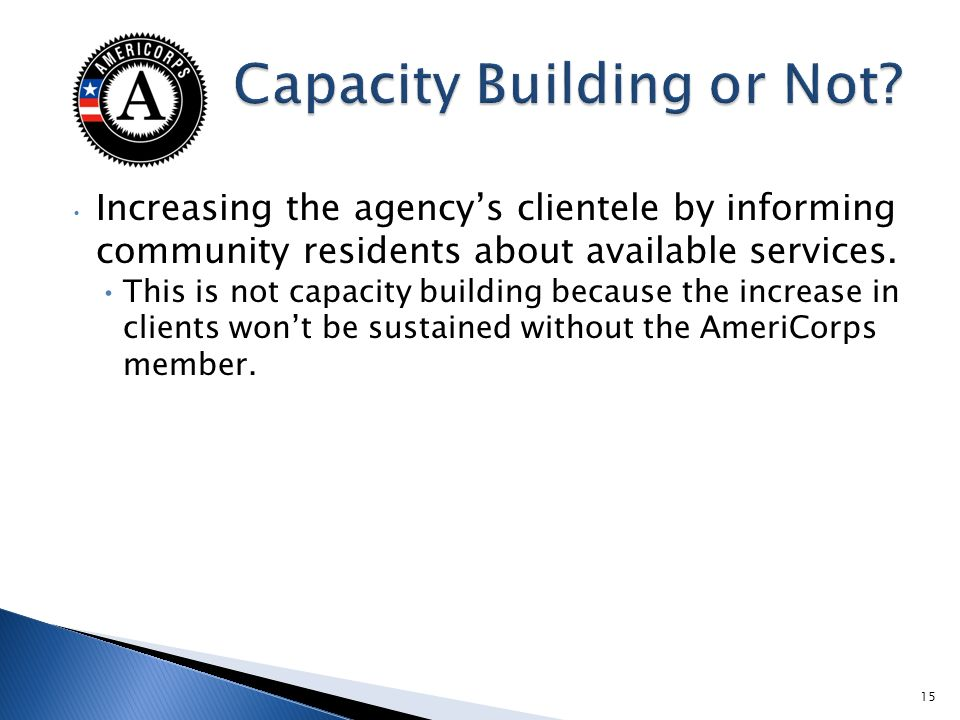 Increasing the agencys clientele by informing community residents about available services.