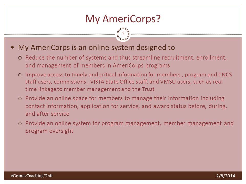 My AmeriCorps.