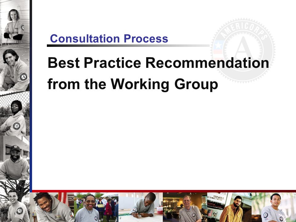 Consultation Process Best Practice Recommendation from the Working Group