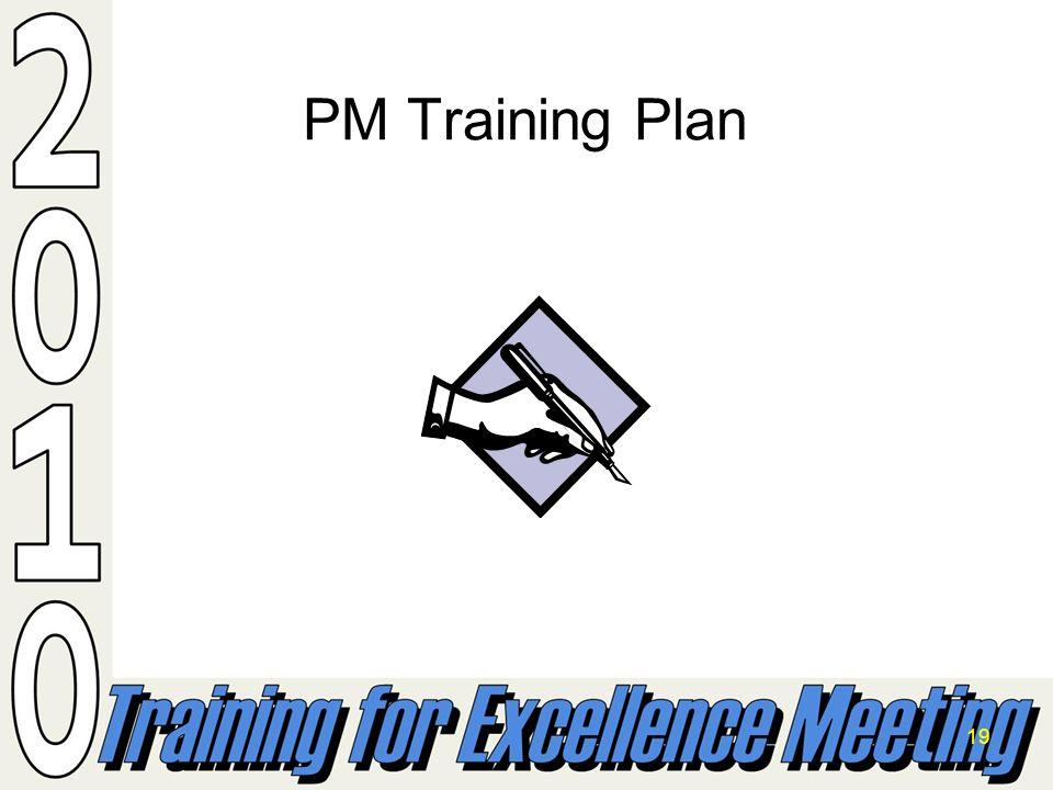19 PM Training Plan