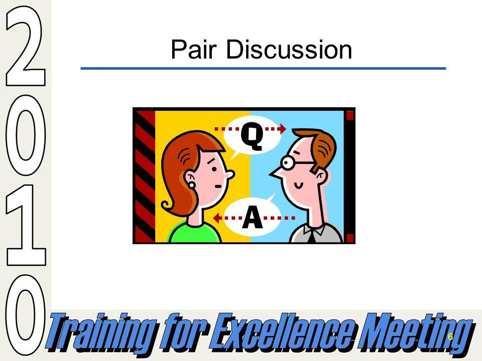 6 Pair Discussion