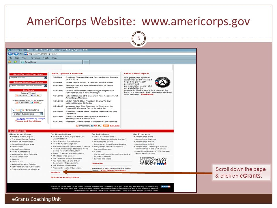 Remove Access to One Operating Site Highlight item and click Remove. 16 eGrants Coaching Unit
