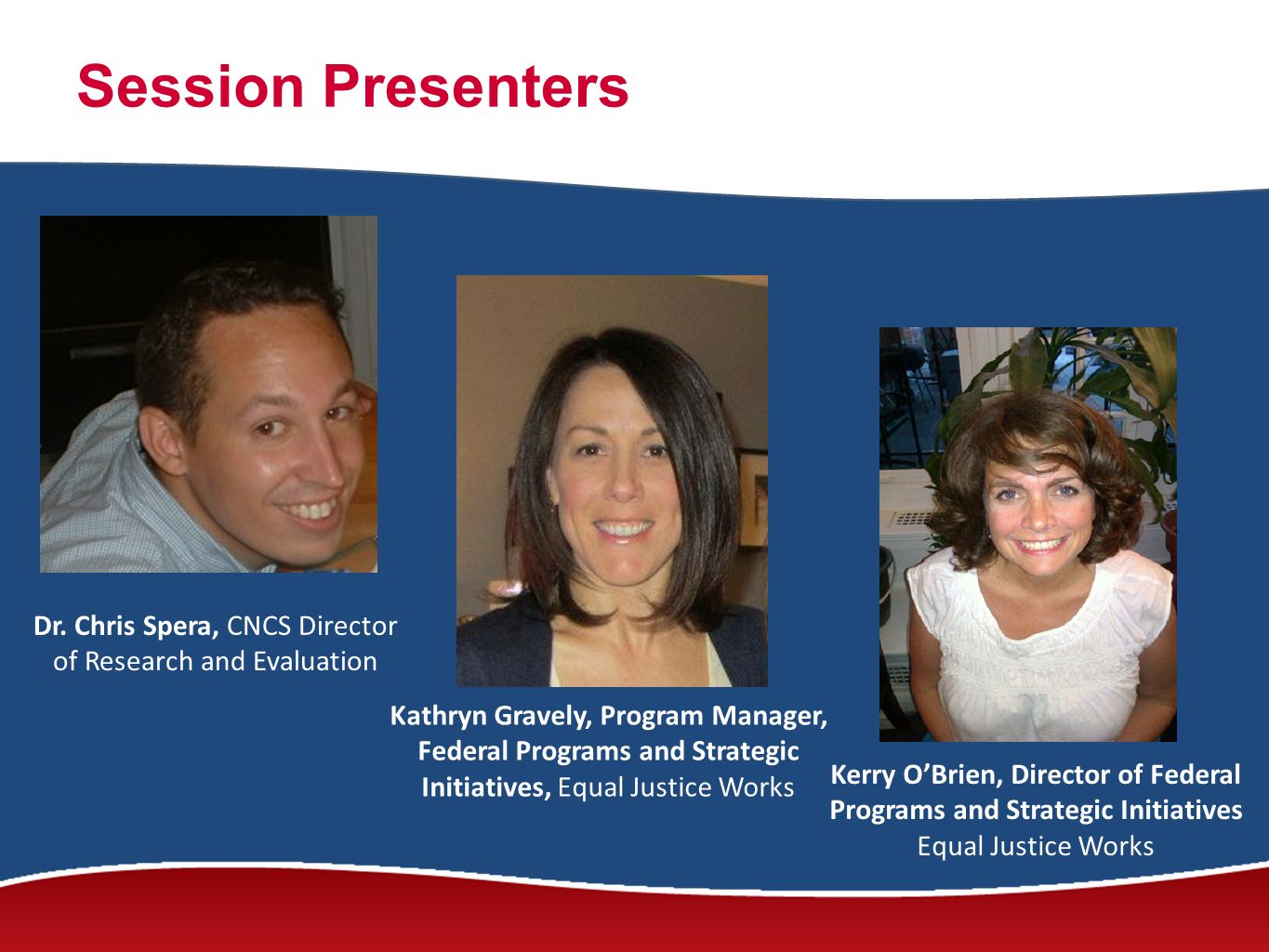 Session Presenters Dr.