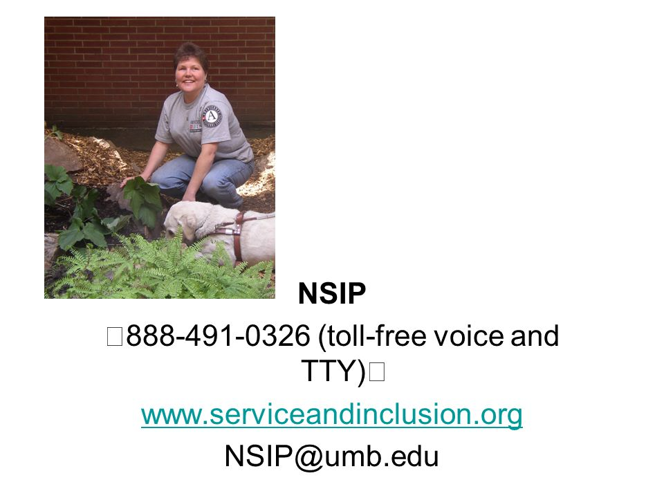 NSIP (toll-free voice and TTY)