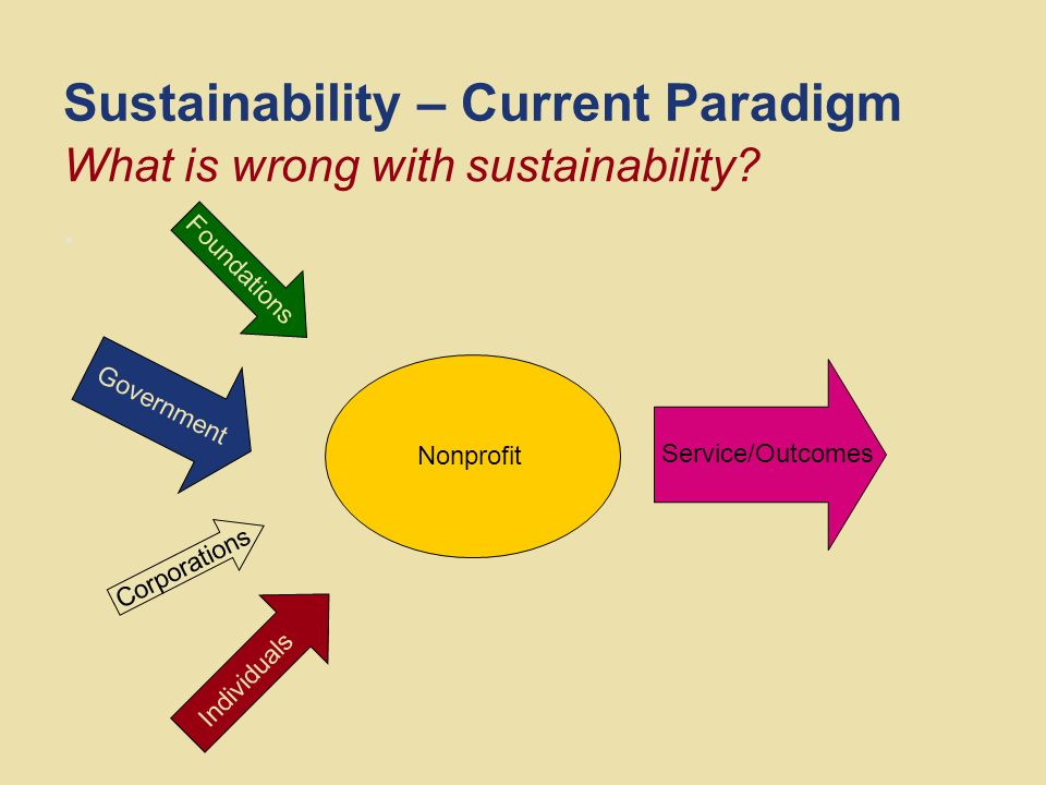 Sustainability – Current Paradigm Volunteers stretched thin million people who had volunteered in the past did not volunteer in 2005.