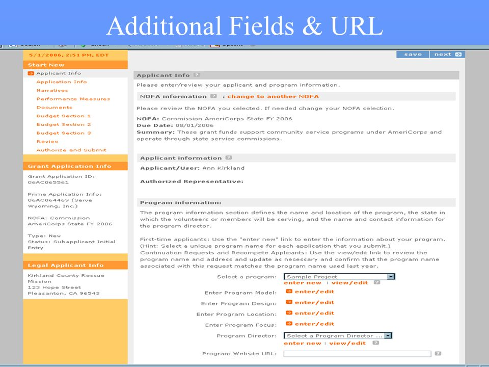 13 Additional Fields & URL